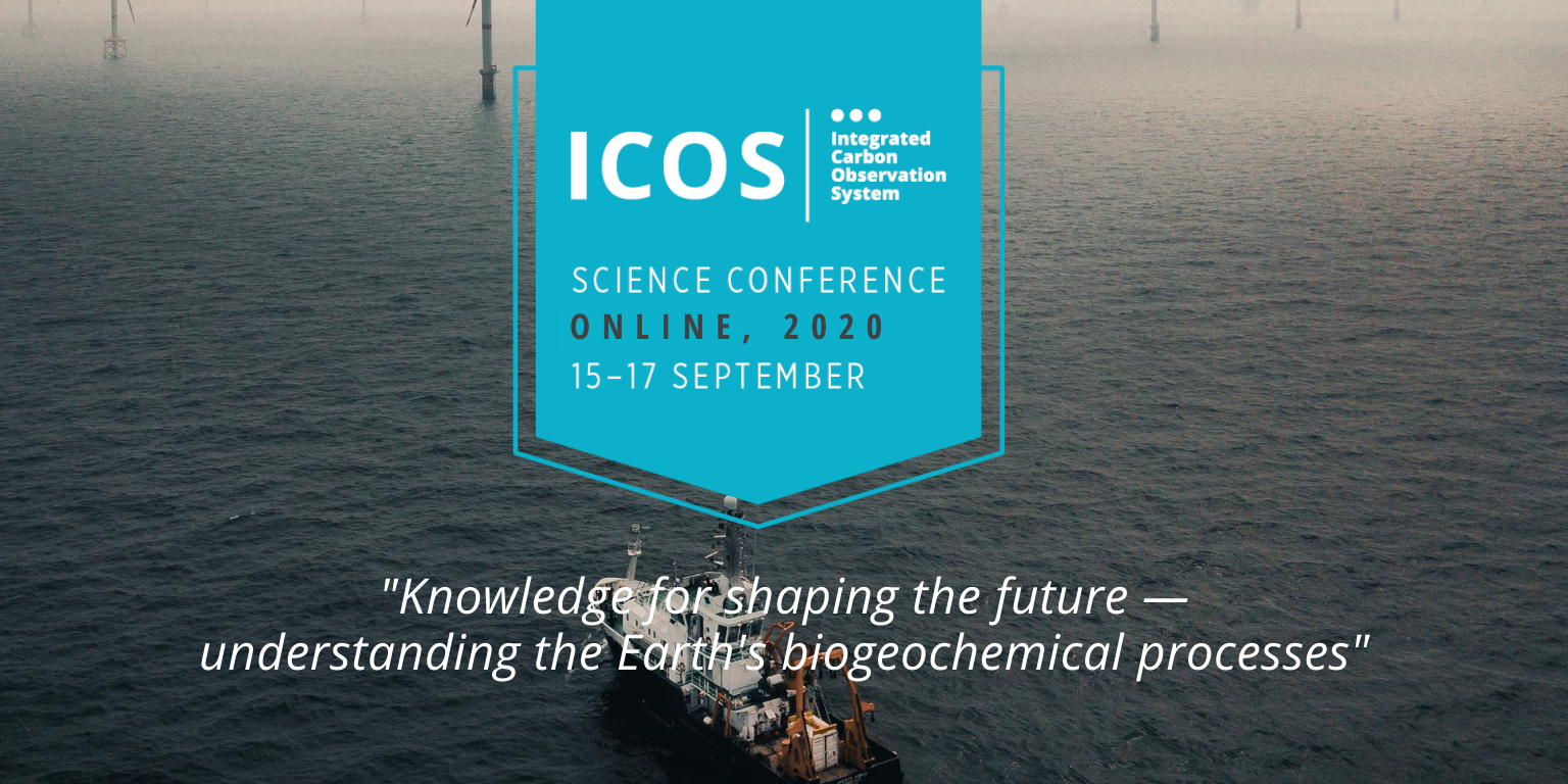 "Banner with the science conference logo and tagline (""Knowledge for shaping the future – understanding the Earth's biogeochemical processes""."""