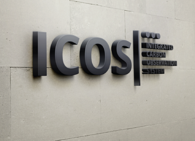 ICOS sign on the wall