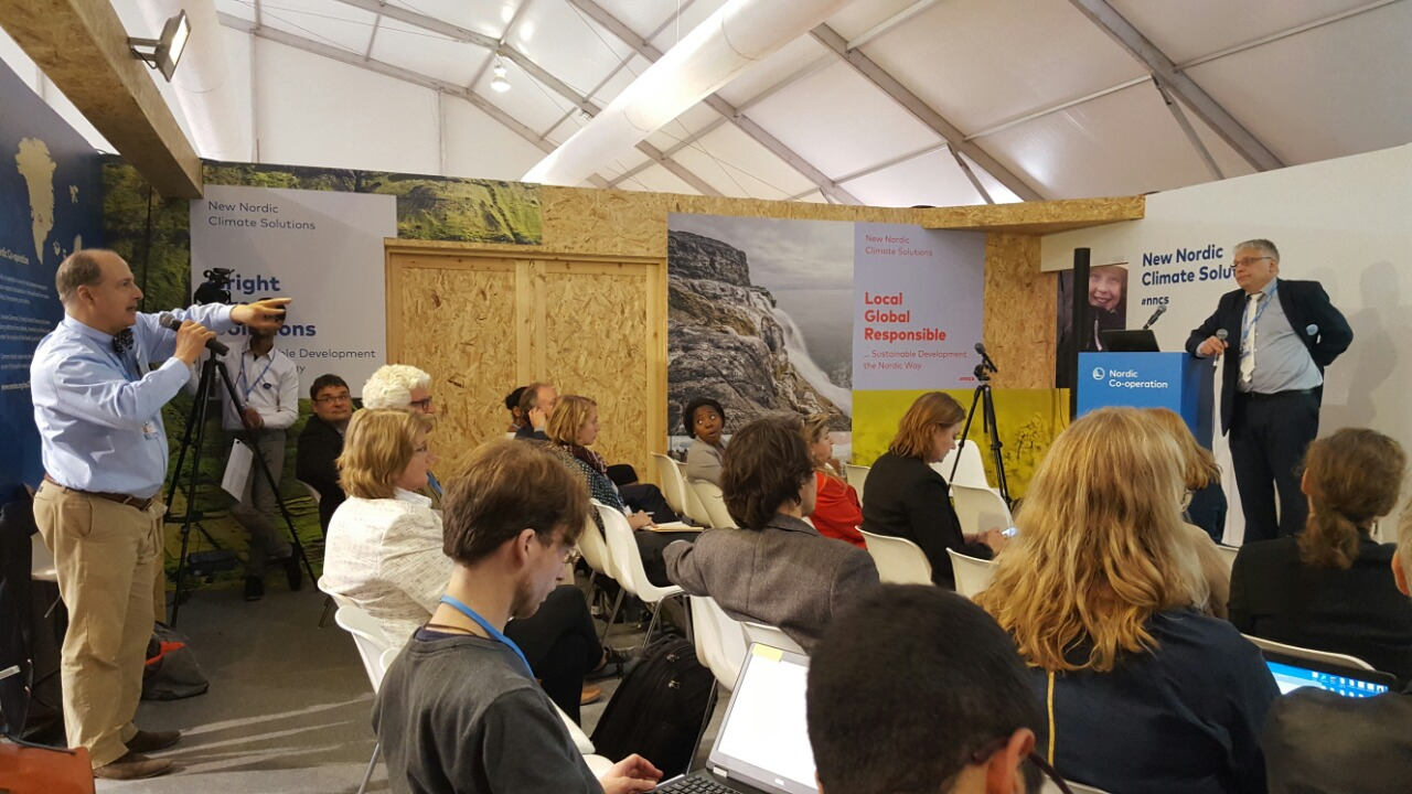 The Observing the Arctic side event at COP22